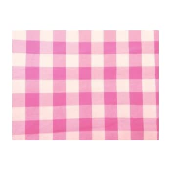 ArtOFabric Checkered Tablecloth 58 Inches X 72 Inches Poly Cotton   Pink