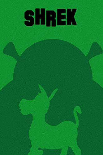 Shrek: Green notebook for boys and girls, 100 lined pages, 6x9'' -