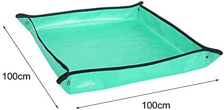 GoodFaith Telo da Lavoro da Giardino in polietilene Quadrato Spesso Anti Sporco per Giardinaggio Impermeabile 101,6 x 101,6 cm trapiantare