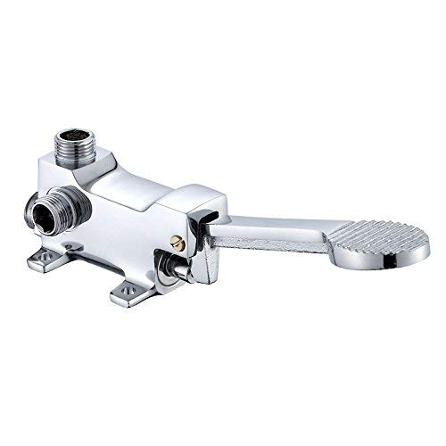 3 Oudan Basin Mixer Tap Bathroom Sink Faucet The foot taps medical full copper foot basin mixer lab foot valve Hospital foot switch valve, cold and hot-Foot Taps (color   2)