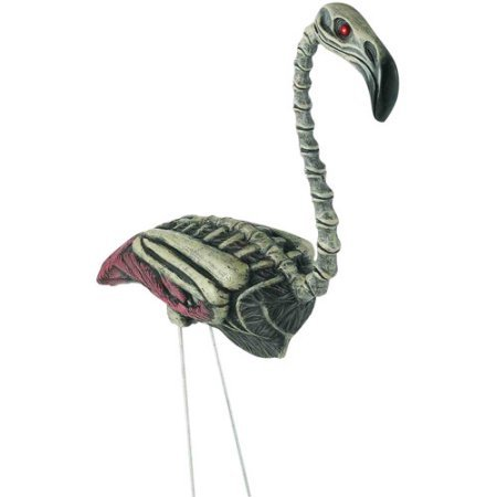 Durable Flamingo Zombie Halloween Prop