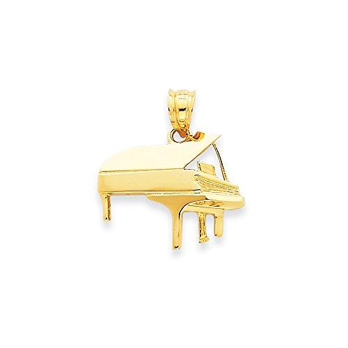 Qg 14k Charm Bracelet (14k Yellow Gold Piano Charm (18 x 20 mm))