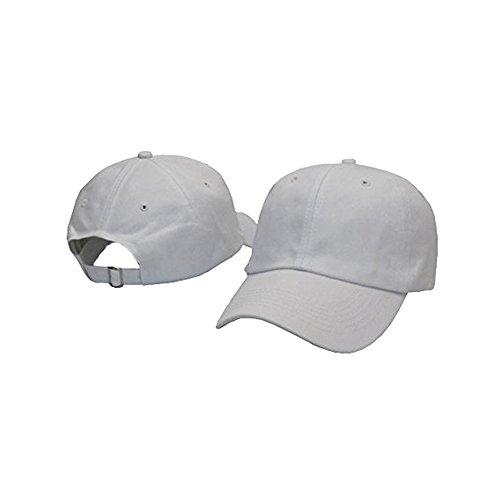 Blank White Baseball Caps (Plan Blank 100% Cotton Dad Hats Baseball Caps For Man And Women (White))