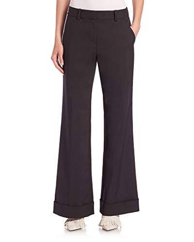 3.1 Phillip Lim  Womens Cuffed Wide-Leg Trousers, 4 Black (Trousers Phillip 3.1 Lim)