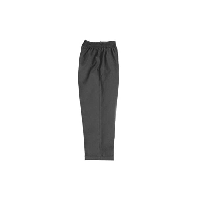 31jC6l3SszL Pantalones de calidad para niños con cintura elástica y sin bolsillos. Los pantalones perfectos para niños pequeños, ya que no tienen cremallera. Simplemente tienen que subírselos para ponérselos. 65% Poliéster, 35% Viscosa