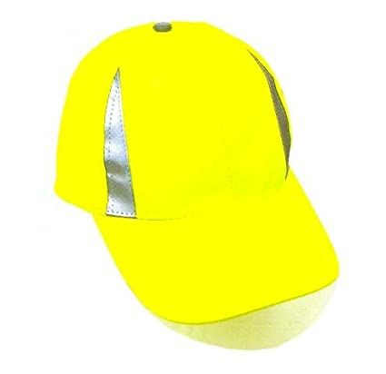Amazon.com  New Reflective Cap Safety Hat Neon Running Biker Hunte  Sports    Outdoors 4f9c97ec6d3