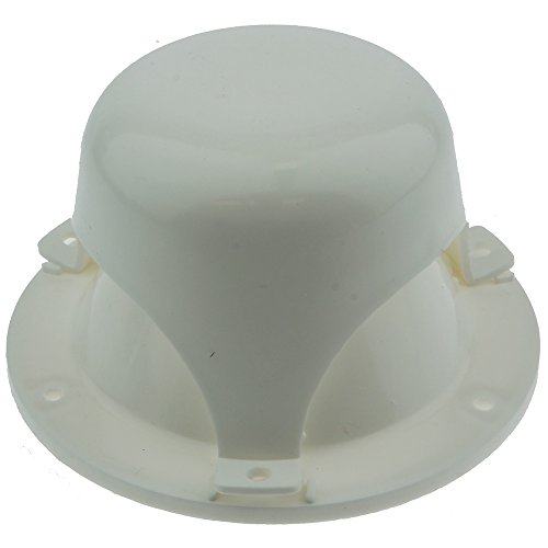Top Set Vent - NUSET RV032-33 White Roof Vent Cap for RV