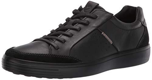 ECCO Men's Soft 7 Sneaker, Suede/Black, 43 M EU (9-9.5 US)