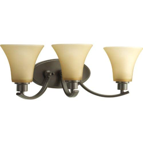Progress Lighting P2002-20 Joy Collection 3-Light Vanity Fixture, Antique - Umber 3 Vanity Light