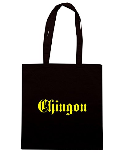 T-Shirtshock - Bolsa para la compra FUN0997 chingon old english shirt Negro