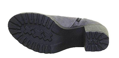 Chaussures Lacets à 3000 Justin Reece de Femme Gris pour Ville FaqEUFwnxZ