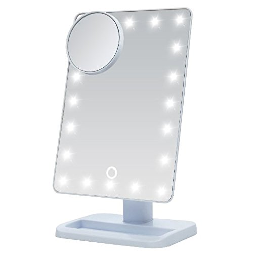 Price comparison product image E-Plaza Creative Multi-functional Make Up Mirror Light LED Desk Lamp Touch-sensitive Eye-protection Reading Lamp (with Magnifier Glass) (White)