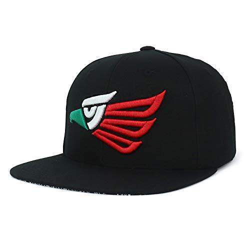 Trendy Apparel Shop Hecho En Mexico Eagle 3D Embroidered Snapback Cap - Black ()