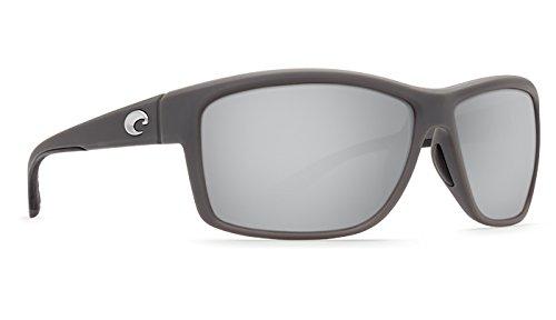 Costa Del Mar Mag Bay Sunglasses, Matte Gray, Silver Mirror 580G - Mirror Del Mar Silver Costa