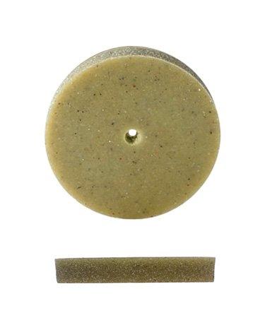 Pumice Wheel, Square Edge, Medium Grit, 7/8 Inch, Pack Of 12 | POL-350.20