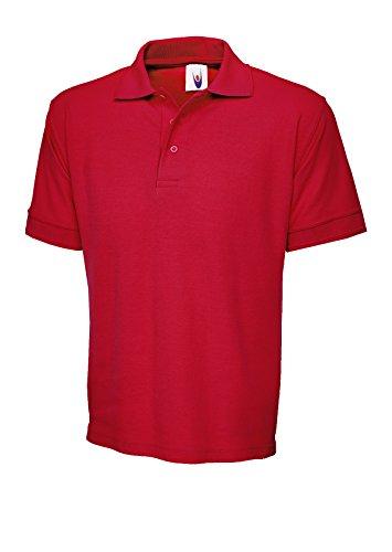 Ultimate 100%  coton-Polo à manches courtes de loisir Tee T-Shirt de sport Uni -  Rouge - XL