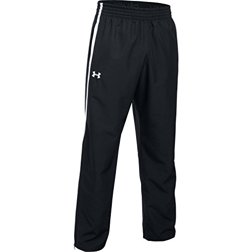 Under Armour Team Essential Woven Men's Warm-up Pants (Black/White, X-Large) -