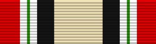 Iraq Service Ribbon - Iraq Campaign Service Ribbon Sticker (military iraqi decal)