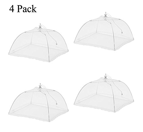"""Price comparison product image Ilyever 4 Pack Large Pop-Up 17"""" x 17"""" Mesh Screen Food Cover Umbrella Tents Keep Out Flies,  Bugs,  Mosquitos"""
