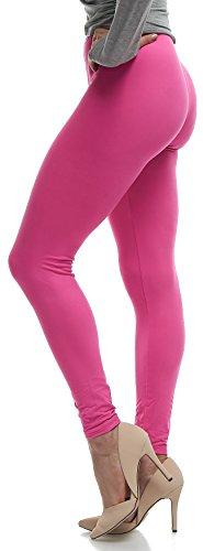 - Lush Moda Extra Soft Leggings - Variety of Colors - Fuchsia