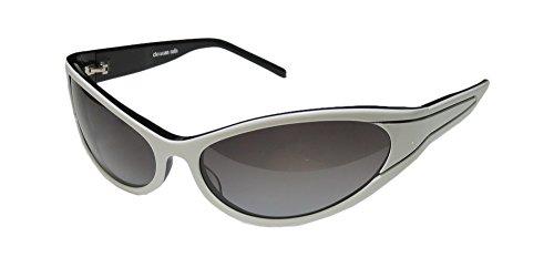 christian-roth-14255-mens-womens-wrap-full-rim-sunglasses-eyewear-64-16-115-white-black