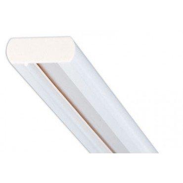 Lightolier Radius 6 Ft Plain Track. 9106RA (Aluminum Finish)