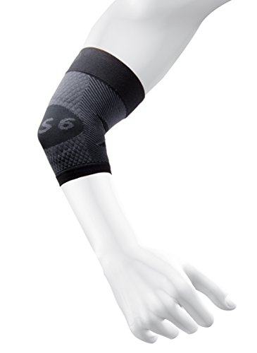 Pain Tunnel Cubital - OS1st ES6 Elbow Compression Bracing Sleeve (One Sleeve) relieves Tennis or Golfer's Elbow, Cubital Tunnel Syndrome, supports damaged tendons & controls forearm pain (Black, XLarge)