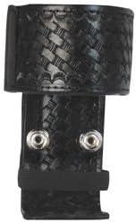 Boston Leather 5487-5 Black Nylon Deluxe Adjustable Radio Holder Nickel Snap