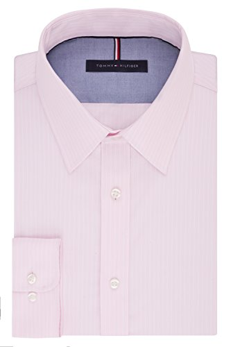 Tommy Hilfiger Men's Long Button Down Shirt, Rose, 16