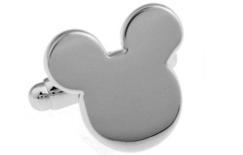 Disney Mickey Mouse Polished Silver Cufflinks - Cuff Links