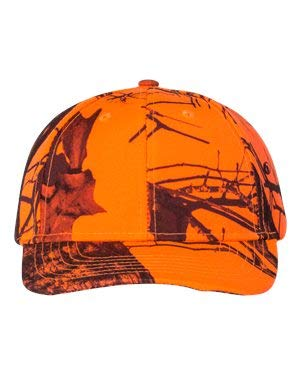 Structured Camo Cap, Color: Mossy Oak Break-Up Blaze Orange, Size: One Size Blaze Orange Camo Cap