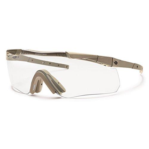 Smith Optics Elite Aegis Echo II Compact Eyeshields Sunglass with Tan 499 Frame and Clear/Gray ()