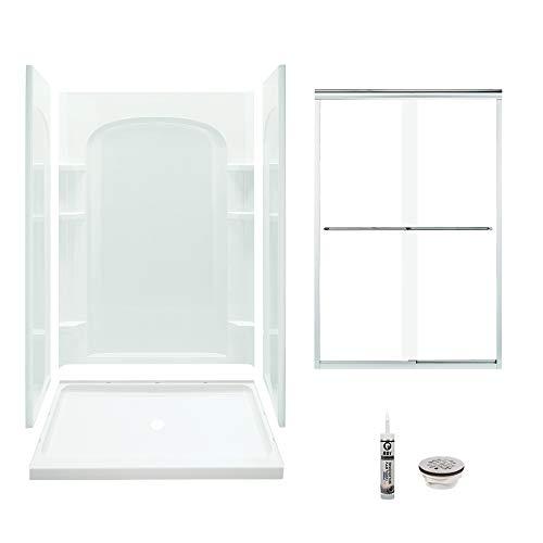 Sterling 7222-5475SC-B-0 Ensemble Vikrell Center Drain Alcove Shower Kit 72-in L x 24-In W x 48-in H White