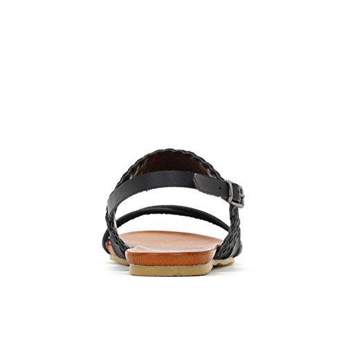 Scarpe Nero Fascia amp;Scarpe Bassi Glitter in Sandali Prendimi con Intrecciata FqdfF6