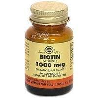 33984000000 Vitamin Biotin 1000mg Capsules Vegetarian 100 Per Bottle by Solgar Vitamin & Herb Co -Part no. 33984000000