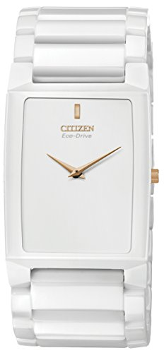 Citizen Unisex AR3040-56A Stiletto Blade White Ceramic Bracelet Watch