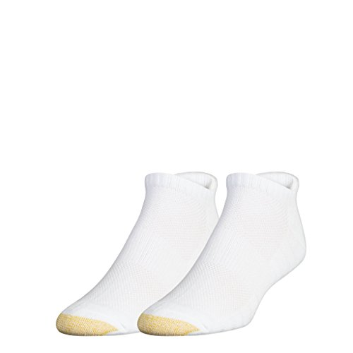 (Gold Toe Men's Golf Soleution No Show Socks with Tabbed Back, 2 Pairs, white, Shoe Size: 6-12.5)