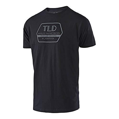 Lee T-shirt Hat - Troy Lee Designs Mens Factory Logo Short-Sleeve T-Shirt (Black, Large)