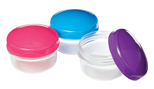 Sistema To Go Collection Mini Bites Food Storage Containers, 4.3 Ounce, Assorted Colors, Set of 3,