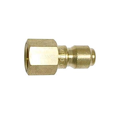 Interstate Pneumatics CPNV440B 1/4 Inch Straight Through Brass Coupler Plug 1/4 Inch Female NPT