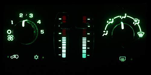 (HERCOO Green LED Lights Bulbs of AC Climate Heater Control Compatible with Chevy 03-06 Silverado Avalanche Tahoe Suburban, 05-09 Trail Blazer, GMC 03-06 Sierra Yukon XL, 05-09 Envoy XL XUV )