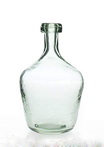 Laguna Vase - Laguna Glass Floral Bottle Vase in Clear Aqua - 10