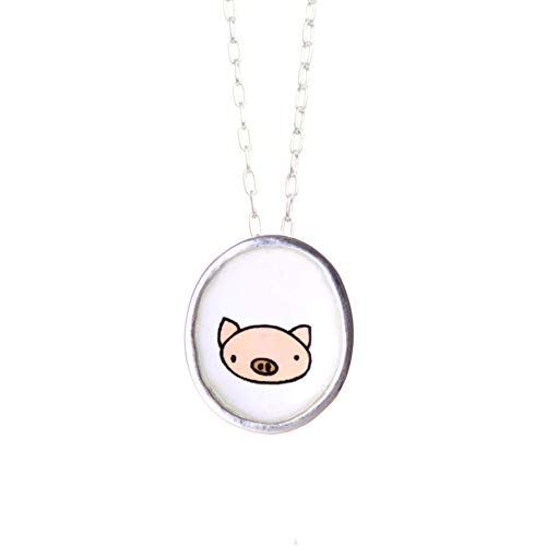 Pig Necklace for Women and Girls on 18