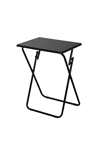 Above Edge Folding TV & Snack Tray Table (Black Snack Table Set)