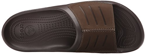 Crocs Mens Yukon Mesa Slide Sandal Espresso / Espresso
