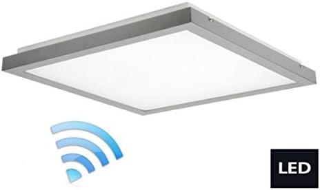 - Lámpara de techo LED 3500 lúmenes lámpara con Sensor de movimiento gris 24641: Amazon.es: Iluminación