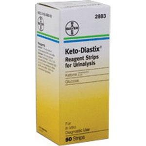 Keto-Diastix Reagent Test Strip (50 count)