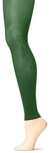 Grandeur Hosiery Girls' Solid Colored Seamless Microfiber Semi Opaque Dance Ballet Costume Footless Tights Leggings Fashion Stockings Hunter Green Medium (Tap Dance Costumes For Sale)