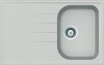 Cristalite Plus Schock Lithos D100SA07 Lavello 79x50x20 cm Bianco Alpina