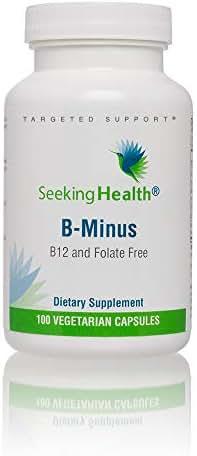 Seeking Health B Minus   100 Capsules   Biotin Vegetarian Capsules   Biotin Supplement   Biotin for Women